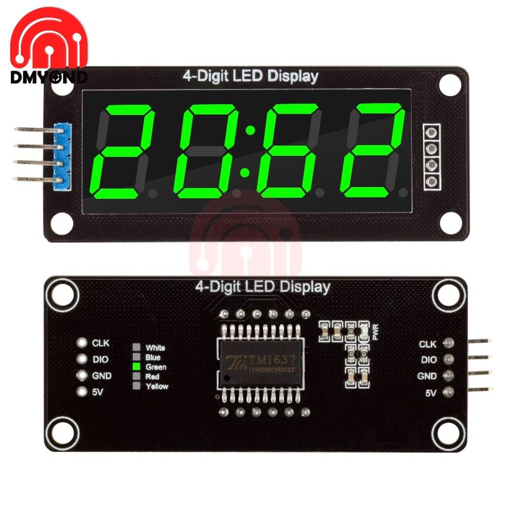"0.56"" Digital 4-Digit LED Display Module 7 Segment Time Clock Display Tube Driver Board TM1637 4 Pin 5V GND CLK DIO LED Driver"