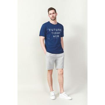 MEN'S WHITE LETTER PRINTED T SHIRTS