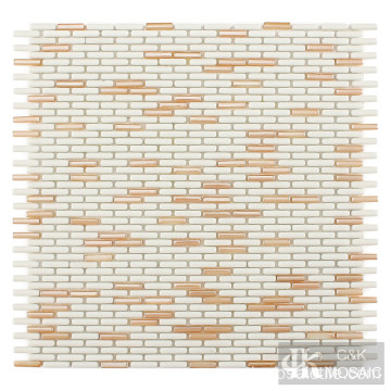 Gold Mix Mini Stick Glass Mosaic Tiles