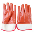 Safety cuff Coffee winter pvc dipped gloves