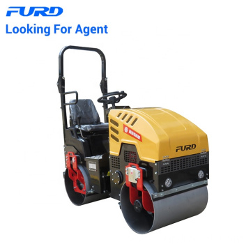 Promotion Price 1000kg 1 Ton Tandem Drum Vibratory Roller For Asphalt Road Lying