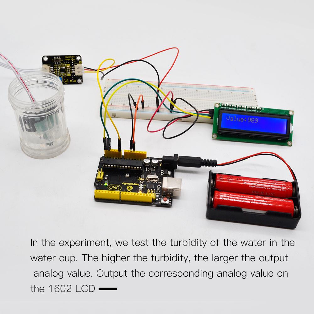 Keyestudio Turbidity Sensor V1.0 With Wires for Arduino Water Testing