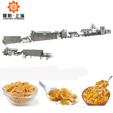 Cornflakes cereal process machinery corn flake machine price