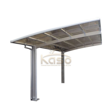 Transparent Solid Parking Shelters With Polycarbonate Roof