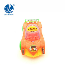 china promo gift taxi pull string cheap plastic toy cars with lights