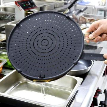 Silicone Splatter Screen For Hot Oil Pan Cooking