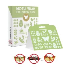6pcs/lot Effective Pheromone Pantry Cloth Moth Trap Insects Mole Repeller Pest Reject Fly Trap Insects Home Valley Moth Killer