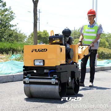 Dual drum mini manual vibratory roller compactor
