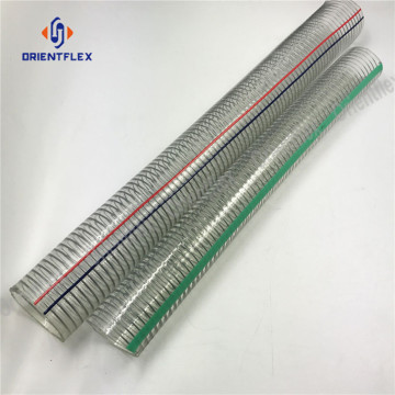 steel wire screw strengthened pvc hose
