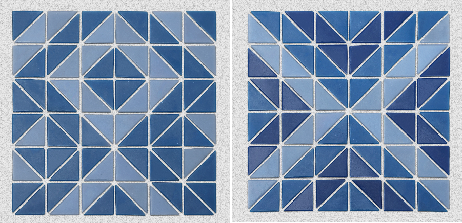 Triangular glass mosaic can be customized pattern