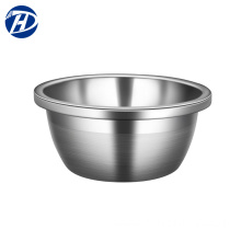 Multifunctional stainless steel round wash food basin