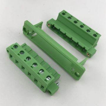 with flange plug through wall panel terminal block