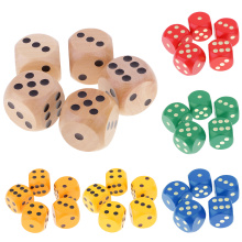 5 Piece/Set 3cm Wooden Board Game Dice D6 Six Sided Dotted Dice for D&D TRPG Toy Gambling Table Games DIY