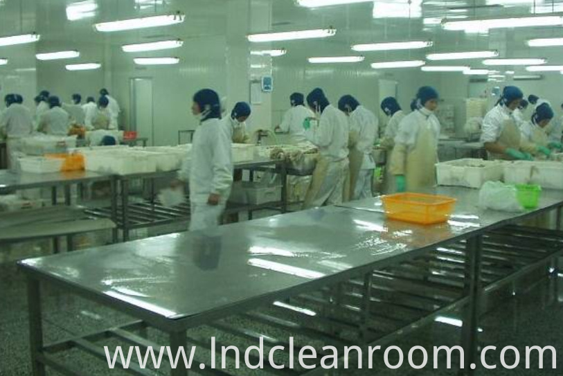 Clean room of Egyptian food factory
