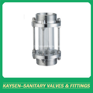 Sanitary straight sight glass threaded stainless steel