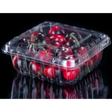 Plastic clamshell packaging box for cherries