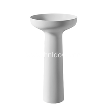 Silver pure acrylic pedestal washbasin for hotel