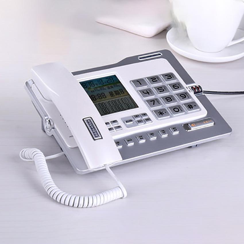 Office Home Corded Telephone Phone with Caller ID/Call Waiting, Speakerphone, Blacklist, Dual Interface Calculator & Alarm Clock