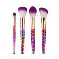 Kit de pinceles de maquillaje prismático Bling Rainbow Colorful 12pcs