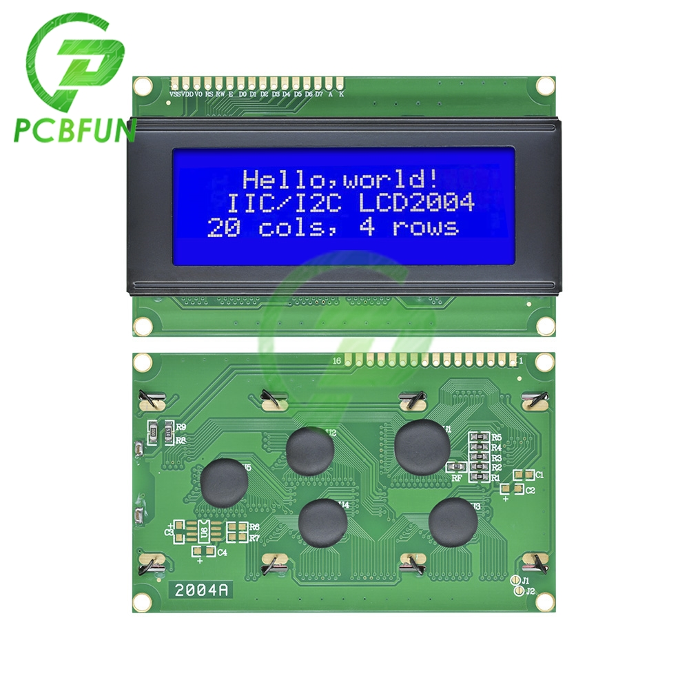 Diymore New 2004 204 20X4 Character LCD Display Module Blue Blacklight White Text 20 Characters x 4 Lines Board For Arduino 5V