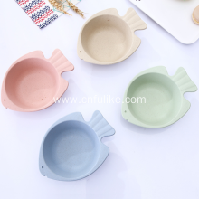Children Fish Shape Wheat Straw Bowl