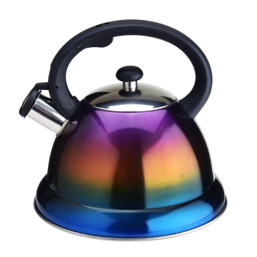 3l stainless steel whistling kettle with gradient color