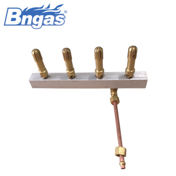 Indoor Fireplace gas burners manifold assembly
