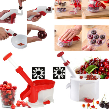 Cherry Pitter Seed Remover Machine Fruit Nuclear Corer With Container Accessories Gadgets Tool for Kitchen Free Shipping