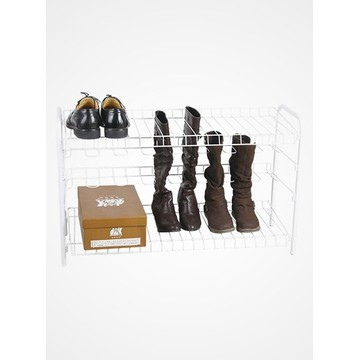 Boot Shoe Rack White Powder Coated White