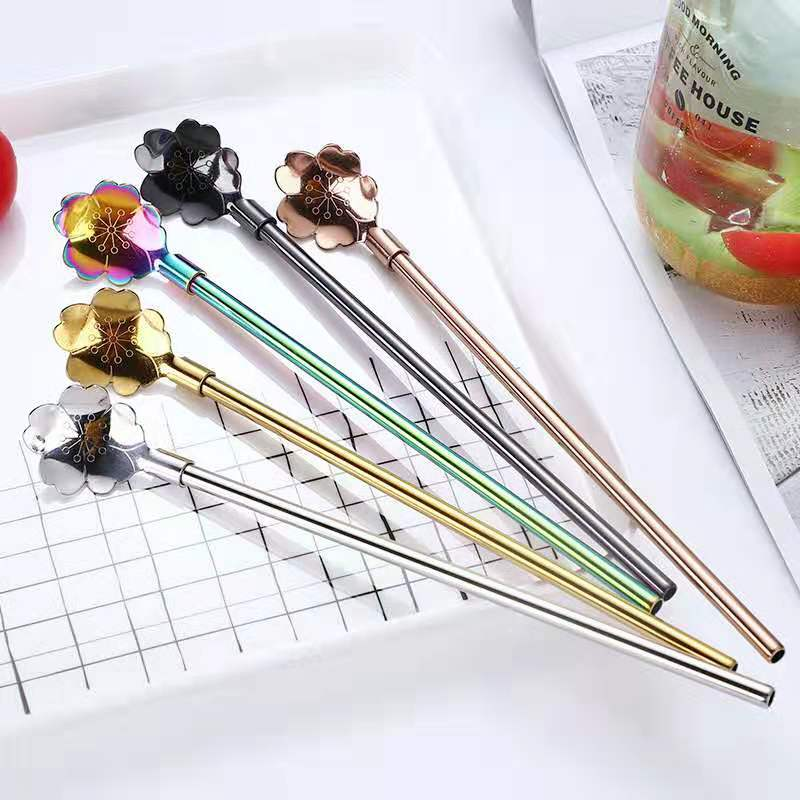 18/10 Beauty Stainless Steel Straw Spoon