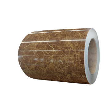 Marble pattern PVC film laminated steel