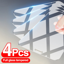 4Pcs Tempered Glass On The For iPhone 12 7 8 6 Plus Screen Protector For iPhone X XS XR 11 12 Pro Max 12 Mini Protective Glass