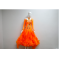 Orange ballroom dance dresses