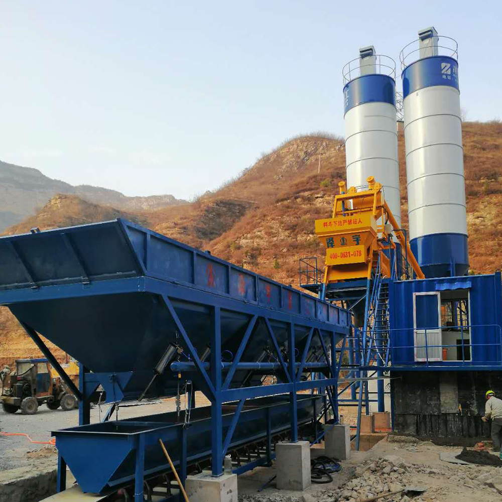 HZS hopper type concrete batching plant Malaysia