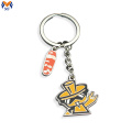 Metal cartoon cat keychain charm