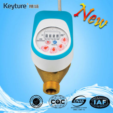 Direct Reading Valve Control Water Meter(Light Blue)