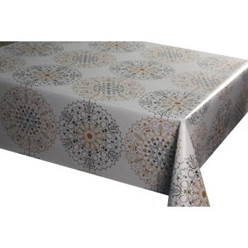 Waterproof vinyl tablecloth with non-woven backing