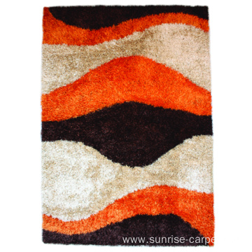 Viscose & Silk Shaggy mix with Design carpet