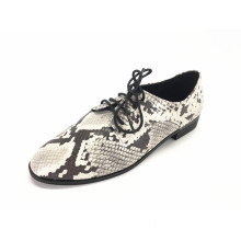 Ladies Lace Up Brogue Wingtip Flats  Shoes