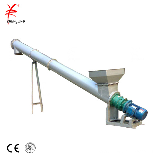 Sand screw conveyor with hopper