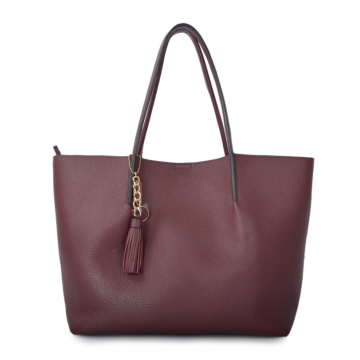 Large capacity burgundy picture mother shoulder bag