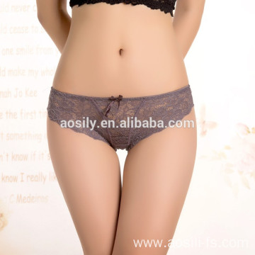 WOLESALE FASHION LACE SEXY UNDERWEAR GREY PANTIES FOR WOMEN 9873
