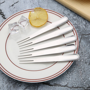 Reusable feature stainless steel cake fruit fork