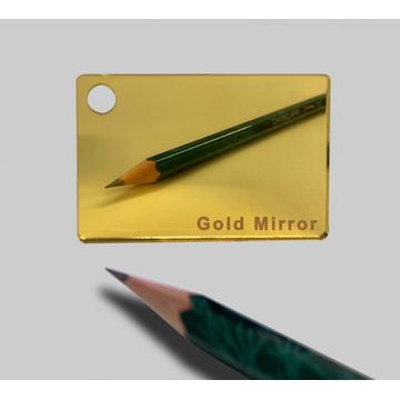 Gold Mirror Acrylic Plexiglass sheet 3mm Thick 1220*2440mm