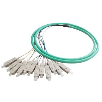 SC 0.9mm OM3 Fiber Optic Bundle Pigtail