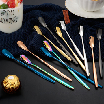 long handle Korean Luxury Colorful Stainless Spoon