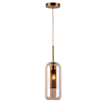 Minimalist style metal glass Indoor light pendant lamp