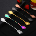 304 stainless steel spiral shaped coffee stirring spoon