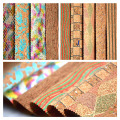 Natural Wood Real Cork Leather for Wallet Craft