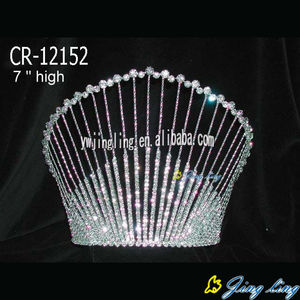 7 Inch Rhinestone diamond pageant crowns for queen